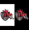 modern animal mascot for esport logo and t-shirt vector image