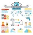 Oculist Infographic Set vector image