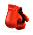 Red boxing gloves detailed vector image