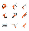 set of building electrotools for repair vector image