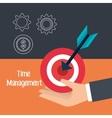 time management design vector image
