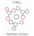 Thallium nitrate TlN3O9 molecule vector image