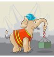 Elephant is a crane vector image vector image