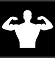 bodybuilder it is the white color icon vector image