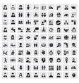 people icons vector image