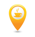 cafe icon yellow map pointer vector image vector image