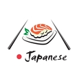 Japanese seafood symbol vector image vector image