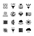 Data filter and data transfer icons vector image