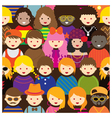 Various Teenage People Pattern vector image