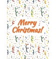 Merry Christmas card cover with exploding popper vector image