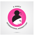 8 March International Women s Day vector image