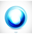 abstract swirl round shape vector image vector image