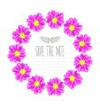 zinnia floral wreath vector image