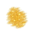 Abstract Golden Sparkles on White Background vector image