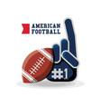 american football design concept vector image