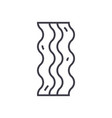 bacon line icon sign on vector image