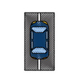 cartoon car on the road traffic navigation concept vector image