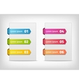 colorful stickers with arrows and numbers vector image