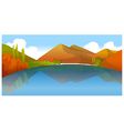 Moutain reflection in water vector image