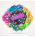 music graffiti modern ornament element vector image