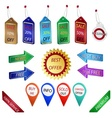 Sale tags and labels vector image