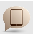 Computer tablet sign Brown gradient icon on vector image