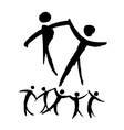 Dancing people hand drawn vector image