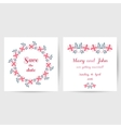 Wedding Postcard With Doodle Flowers vector image