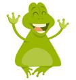 cartoon frog animal character vector image