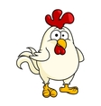 Funny fat little rooster or cock vector image vector image