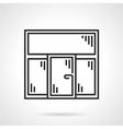 Plastic window black line icon vector image