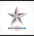 Creative veterans Day Greeting stock vector image