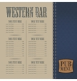 Menu for the pub vector image vector image