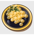 a grape on plate vector image