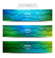Abstract Technology Web Banners vector image