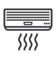 air conditioner line icon electric and appliance vector image