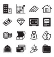 asset icons set vector image