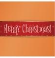 Big red gold Christmas Label on Orange Background vector image