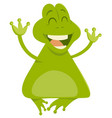 cartoon frog animal character vector image
