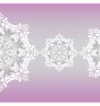 Classic floral lace ornament vector image