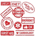 Collection of the medical rubber stamp vector image