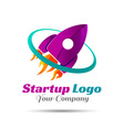Logo for startup project with inscription vector image