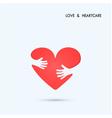 Love Heart Care logo vector image