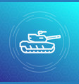 modern tank icon heavy armoured combat vehicle vector image