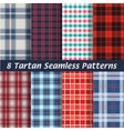 set of tartan squared seamless abstract vector image