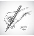Sketch hand pencil vector image