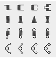 Spiral springs icons set vector image