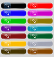 Pushpin icon sign Set from fourteen multi-colored vector image
