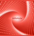 data flow visualization red flow of vector image