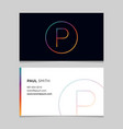business-card-letter-p vector image